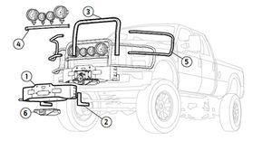 New Warn Winch Bracket assembly - Ford Super Duty WARN 90130 Bracket for Sale in Renton, WA