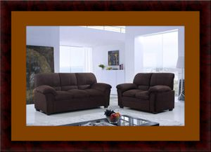 Chocolate microfiber sofa and loveseat for Sale in Rockville, MD
