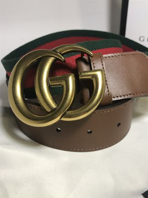 Gucci Brown Leather Webbed Belt (Buy Now & Get FREE Gucci Socks!) for Sale in Queens, NY