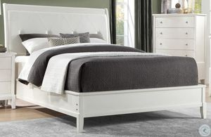 """Brand new white padded queen bed frame, 14"""" thick memory gel mattress, box spring for Sale in San Diego, CA"""