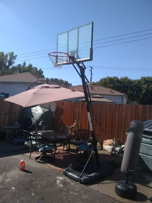 Freestanding and Adjustable Basketball Hoop, Backboard, and Stand for Sale in Burbank, CA