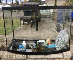Fish Tank 36 Gallon Bow Front Aquarium for Sale in Tacoma, WA