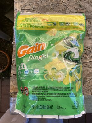 Gain laundry pods 33 per pack for Sale in Northglenn, CO