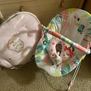 Baby girl diapers, bouncer and more for Sale in San Jose, CA
