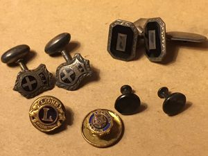 "Vintage cuff links & pins collection American Legion, Lions Club, ""KA"", cufflinks & pins. for Sale in Tulsa, OK"