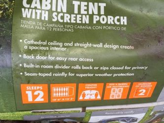 12 Person Cabin Tent With Screened Porch for Sale in Lakewood,  WA