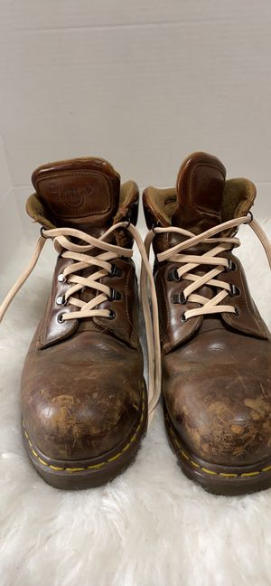 Dr martens men boots size 12 made in England steel toe for Sale in Detroit, MI
