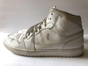 Nike Air Jordan Retro 1 High Triple All White Size 11.5 Men's Basketball 2016 for Sale in Manteca, CA