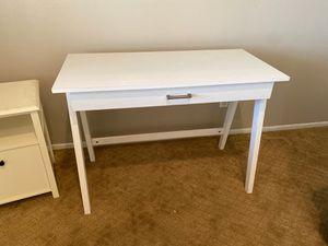 White One Drawer Computer Desk Table for Sale in Oak Glen, CA