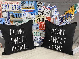rae dunn 2 pillows home sweet home for Sale in Duluth, GA