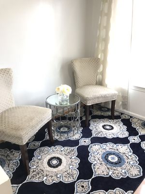 Chairs, Side Table and Rug for Sale in Springfield, VA