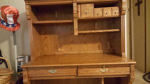 Oak desk w/2 shelves for Sale in Eden, NC