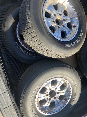 Chevy Silverado 4 tires and rims for Sale in Dinuba, CA