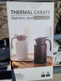 Thermal carafe 2.0 liters, white, brand - toearnit for Sale in Westchester,  CA