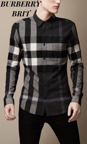 100% AUTHENTIC BURBERRY BRIT EXPLODED CHECK MEN'S BUTTON DOWN OXFORD SHIRT for Sale in Downey, CA