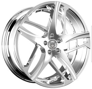 Lexani Bavaria chrome wheel rim & tire packages available! Easy financing no credit! for Sale in Tempe, AZ