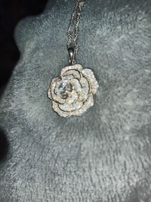 Sterling Silver Rose Necklace for Sale in Rock Hill, SC