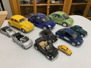 Lot of 10 Volkswagen Beetles VW Bug diecast models for Sale in Tempe, AZ