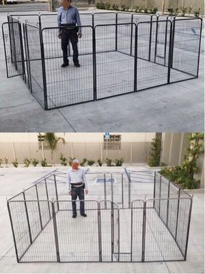 New 48 inch tall x 32 inches wide each panel x 16 panels heavy duty exercise playpen fence safety gate dog cage crate kennel for Sale in Whittier, CA
