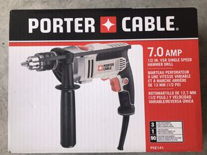 Porter Cable 7.0 Amp Hammer Drill NIB for Sale in Deerfield Beach, FL