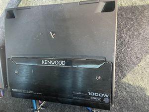 Kenwood amp and kicker cvr for Sale in Denver, CO