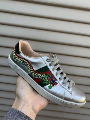 Gucci Sliver Dragon Aces - Size 8-8.5 for Sale in Pacifica, CA