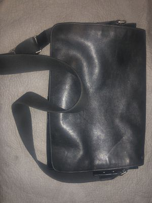 Coach black leather Messenger Bag for Sale in Obetz, OH