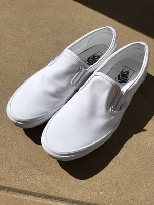 Vans Size 10.5 Mens Slip On True White for Sale in Yorba Linda, CA