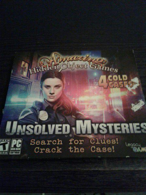 Computer games scary games/detective hidden 4n1
