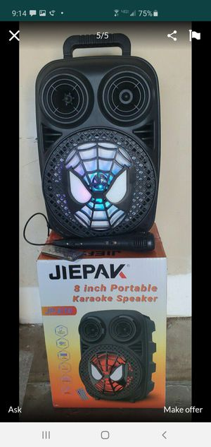 """New 8"""" subwoofer rechargeable, Bluetooth, usb, fm,aux, microphone, remote control for Sale in Riverside, CA"""