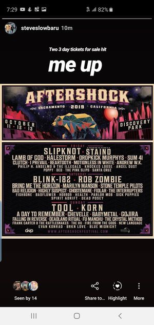 AFTERSHOCK FESTIVAL for Sale in Covina, CA