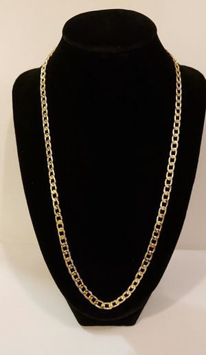 18k Real Gold Plated Curb Chain 22 inch for Sale in Dallas, TX