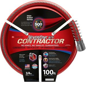 100 ft. Contractor Heavy Duty Kink Free Vinyl Red Coiled Hose Garden Plant Water for Sale in Atlanta, GA