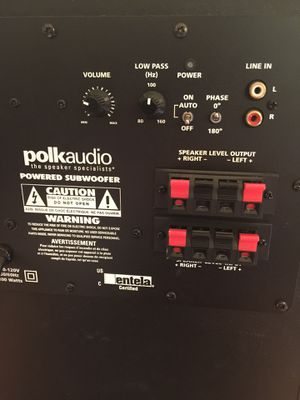 Polk Audio Powered Subwoofer - 100 Watts - Good Condition ! for Sale in Menifee, CA