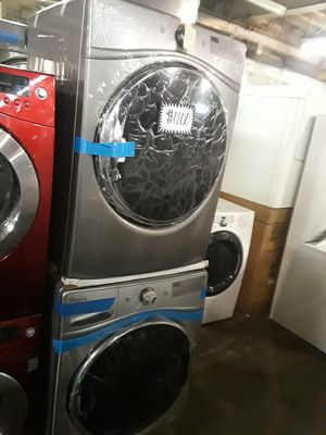 Brand new scratch and dent Whirlpool front load washer and dryer set 6 months warranty for Sale in Baltimore, MD