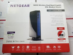 Netgear N600 Wireless Dual Band Gigabit DSL Modem Router DGND3700 for Sale in Portland, OR