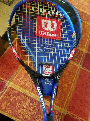 Wilson Tennis Racket Oversize Soft Shock Wrapping coming off at Handle still Available for Sale in Hesperia, CA
