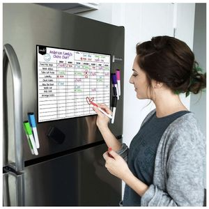 """Magnetic Dry Erase Chore Chart for Multiple Kids and Adults: Fridge 17x12"""" - Includes 6 Whiteboard Markers and Eraser with Magnets - Daily Responsibil for Sale in Norco, CA"""