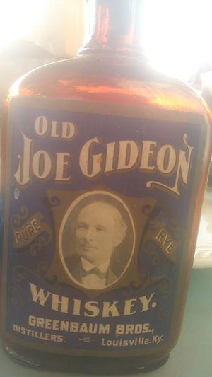 Antique old joe gideon whisky bottle for Sale in Fresno, CA