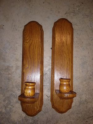 Wood candle holders for Sale in Hannibal, MO
