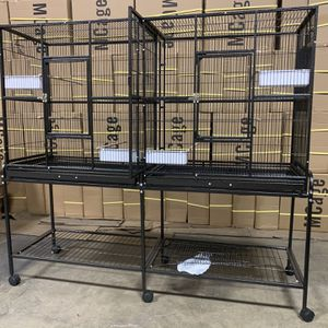 Extra Large Double Flight Birds Cage With Center Divider With Stand for Sale in La Puente, CA