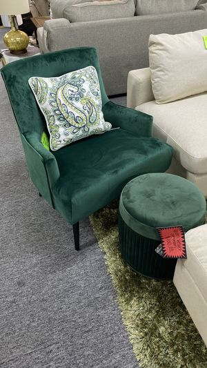 NEW Green Velvet Suede Accent Chair GT for Sale in Euless, TX