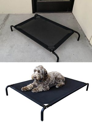 New in box M Medium raised dog pet cot bed 42x25x6 inches tall for pets up to 70 lbs capacity elevated cuna de perro for Sale in Whittier, CA