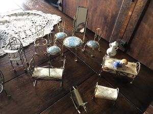 Antique little doll furniture .. was my grandmas for Sale in Orland Park, IL