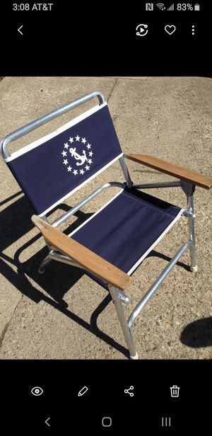 2 Nautical folding deck chairs for Sale in Erie, PA