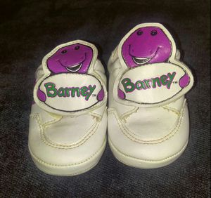 Vintage Barney Infant Baby Shoes Size 0 for Sale in Damascus, MD