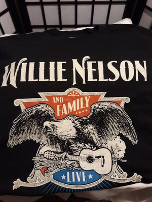 Used, WILLIE NELSON and Family Live Tour Concert T-Shirt Black Eagle W/ Guitar for Sale for sale  Federal Way, WA
