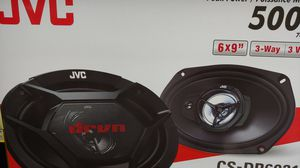 Car speakers : JVC 6×9 3 way 500 watts car speakers ( brand new price is lowest shipping available ) for Sale in Bell Gardens, CA