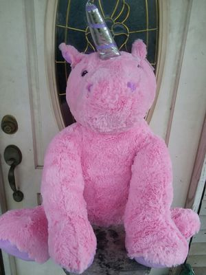 4FT BIG PINK UNICORN for Sale in San Antonio, TX