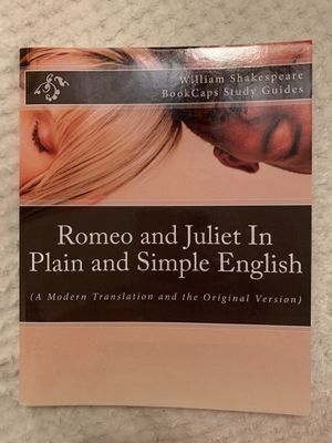 Romeo and Juliet in plain and simple English for Sale in Cypress, CA
